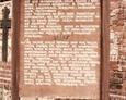 Darłowo - tablica informacyjna przy lapidarium