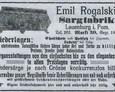 Reklama oferująca usługi Emila Rogalskiego