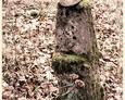 Postument w kształcie pnia drzewa bez tablicy inskrypcyjnej (Oskowo)
