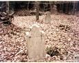 Dwie kamienne stele w części wschodniej cmentarza (Oskowo)