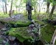 """41. schwere Flugmelde-Leit Kompanie, Stellung """"Leopard"""", ruiny infrastruktury"""