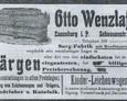 Reklama oferująca usługi Otto Wenzlaffa