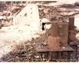 Pozostałości metalowej wieży w Lęborku
