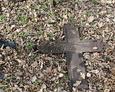 Odnaleziony fragment żeliwnego krzyża