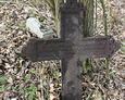 Odnaleziony krzyż żeliwny po szybkiej próbie oczyszczenia