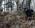 Eksploracja terenu ruin kaplicy grobowej