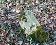 Zniszczony fragment nagrobka