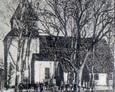 Archiwalne zdjęcie kościoła w Łupawie (rok prawdopodobnie 1917)
