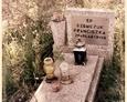 Tawęcino - polski nagrobek niedaleko ewangelickiego cmentarza