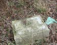 Fragment zniszczonego nagrobka (Janowice)