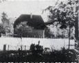 Teren cmentarza w Łebienu w latach 70-tych