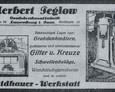 Reklama oferująca usługi Herberta Peglowa