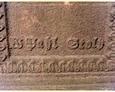 Damnica - cmentarz komunalny (widoczna sygnatura wykonawcy krzyża)