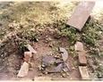 Damnica - cmentarz komunalny (fragment po nagrobku)