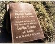 Damnica - cmentarz komunalny (granitowa tablica z nagrobka)