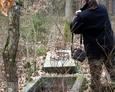 Dokumentacja fotograficzna sporządzana na terenie dawnego ewangelickiego cmentarza w Tadzinie