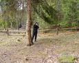 Dokumentacja fotograficzna sporządzana podczas eksploracji terenu cmentarza