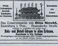 Reklama oferująca usługi Otto Strehla
