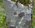 Kawałek połamanej tablicy nagrobnej (widać zarys napisu)
