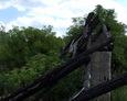 Zgliszcza domu w Mostach