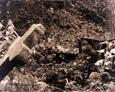 Krzyż granitowy - napis zatarty
