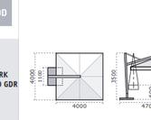 Parasol ogrodowy Galileo Maxi 4x4 Dark i White (wymiary)