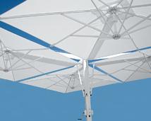 Parasol ogrodowy 4-czaszowy Galileo Alu White