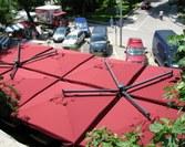 Parasol ogrodowy Poker Alu kolor bordo