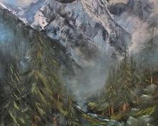 Górska Cisza olejny 70x100cm