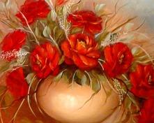 Róże czerwone olejny 50x60cm