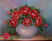 Róże olejny 60x50cm