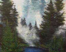górska mgła olejny 70x50cm