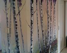 malowana ściana