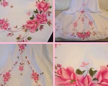 suknia ślubna malowana