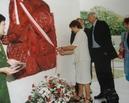 Nadanie imienia szkole 1.06.2002 - uroczyste przecięcie szarfy