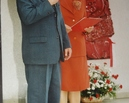 Nadanie imienia szkole 1.06.2002 - Wójt Gminy Kostomłoty Kazimierz Buba i dyrektor szkoły Maria Jadach