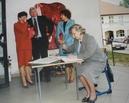 Nadanie imienia szkole 1.06.2002 - Wpis pani Senator do Kroniki