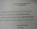 Pismo samorządu szkolnego w sprawie ustanowienia święta szkoły