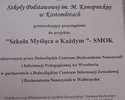 Projekt SMOK - Certyfikat