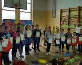 Wręczenie nagród za udział w Gminnym konkursie plastycznym na ozdobę wielkanocną zorganizowanym przez GOK w Kostomłotach