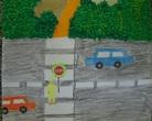 """Wyróżnienie - Konkurs plastyczny """"Bezpieczna droga do szkoły"""""""