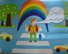 """I - miejsce klas 4-6 - Konkurs plastyczny """"Bezpieczna droga do szkoły"""""""