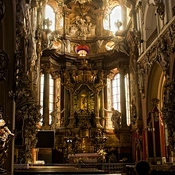 Kościół widoczny z Twierdzy Kłodzkiej - wnętrze