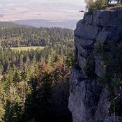 Widok z tarasu widokowego  -  Szczeliniec