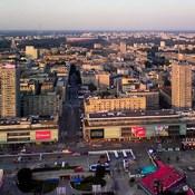 Warszawa - widok z Pałacu Kultury