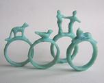 Modele ręcznie wyrzeźbione w wosku