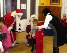 Mikołaj w Przedszkolu Miejskim w Korszach
