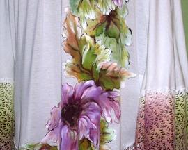 Poncho - tunika z bawełny