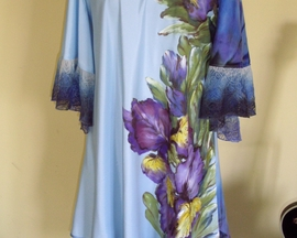 Sukienka IRYS dwuwarstwowa z satyny