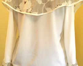 Bluzka ręcznie malowana PASTEL KORONKA